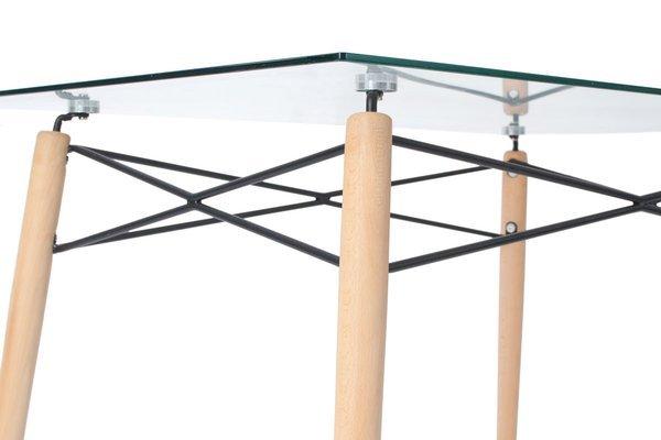 Stół prostokątny MEDIOLAN LUNA 120x80 - szkło hartowane