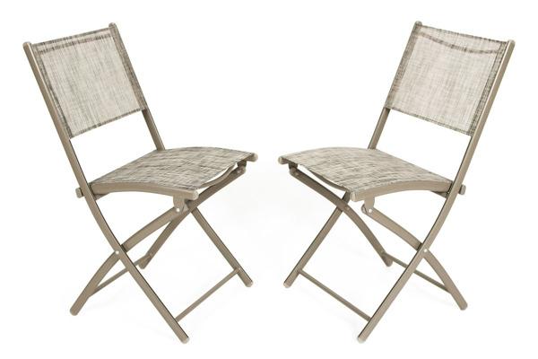 WYPRZEDAŻ - Krzesła ogrodowe balkonowe składane - 2 szt.