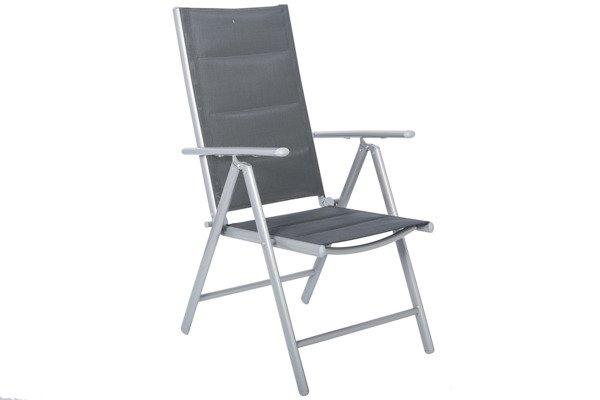 WYPRZEDAŻ - Krzesło ogrodowe WENECJA  - Srebrne