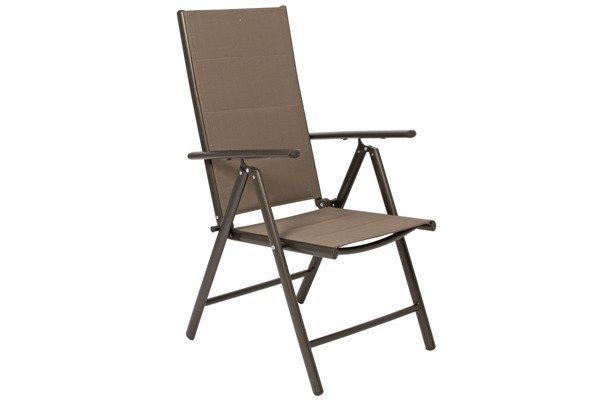 WYPRZEDAŻ - Krzesło ogrodowe aluminiowe MODENA  - Brązowe