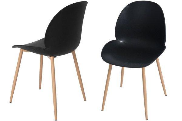 Wygodne krzesło do jadalni GALA - czarne