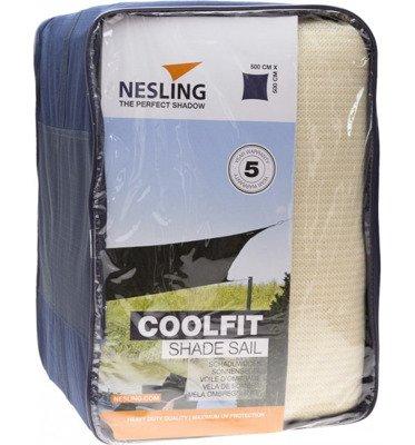 Żagiel przeciwsłoneczny COOLFIT kwadrat 5,0 x 5,0 x 5,0 x 5,0 m - Złamana biel