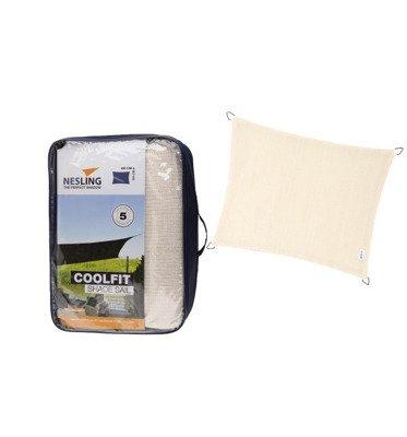 Żagiel przeciwsłoneczny COOLFIT prostokąt 3,0 x 4,0 x 3,0 x 4,0 m - Złamana biel
