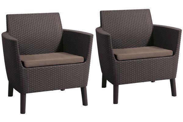 Zestaw dwa fotele SALEMO DUO 2-osobowy - brązowy