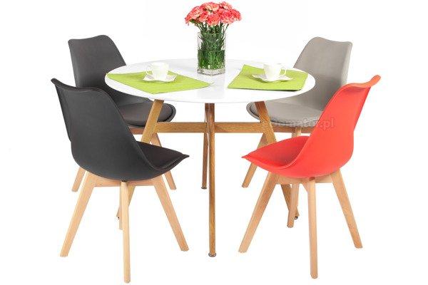 Zestaw mebli do jadalni BOLONIA stół okrągły i 4 krzesła