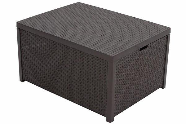 Zestaw ogrodowy CORFU BOX 4-osobowy - brązowy